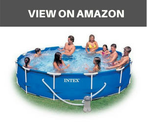 Intex 12-Foot by 30-Inch Metal Frame Pool Set