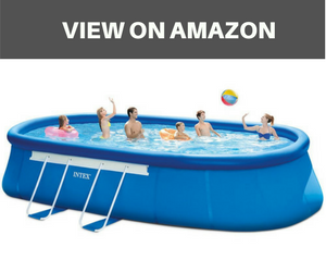 Oval Frame Pool Set with Filter Pump