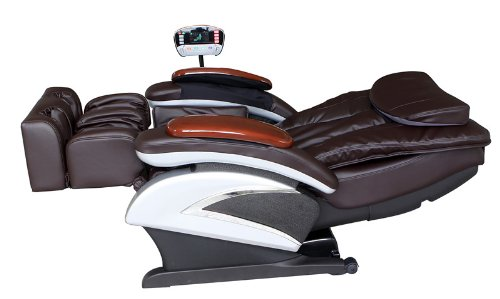 Shiatsu Brown Massage Chair Recliner Stretched Foot Rest 06C