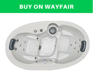 2-Person 13-Jet Plug and Play Spa with Stainless Jets and Underwater LED Light