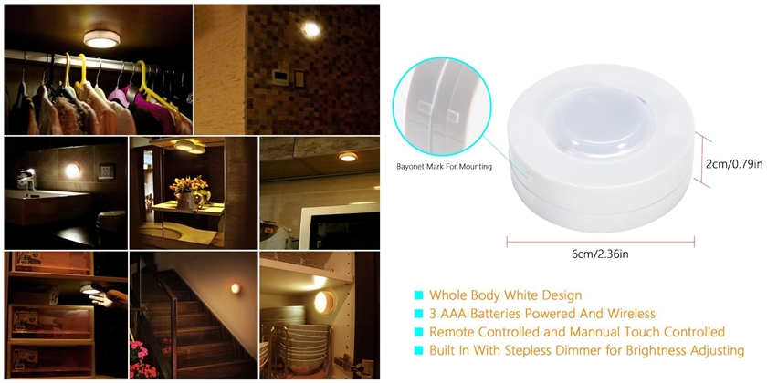 Battery Powered Dimmable Closet Lights