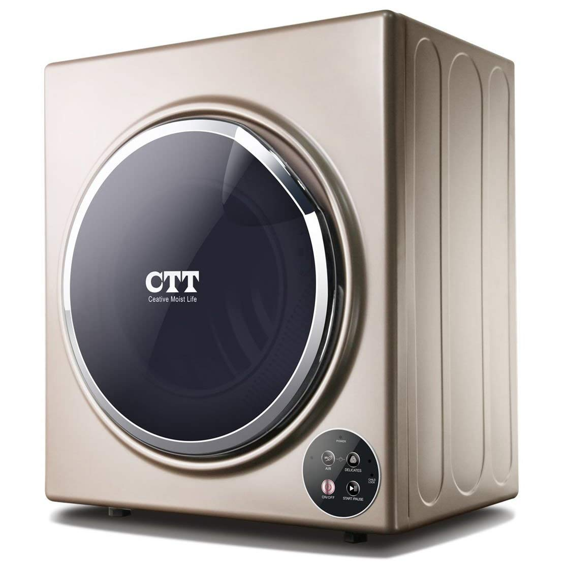 CTT 13 Lbs. Capacity 3.5 Cu.Ft Compact Portable Tumble Clothes Laundry Dryer